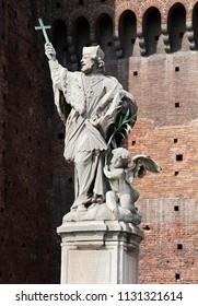 Statue of John of Nepomuk in Sforza Castle