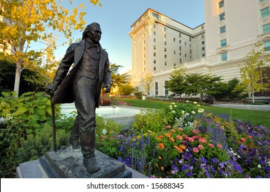 Statue of Joseph Smith Jr. on Temple Square in Salt Lake City