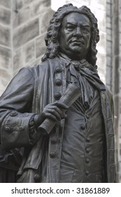 statue of JS Bach in Leipzig