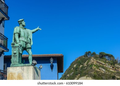 Statue of Juan Sebastian de Elcano, Getaria, Basque Country