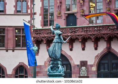 The Statue of Justice - Justitia - the Roman goddess of Justice - Frankfurt, Germany