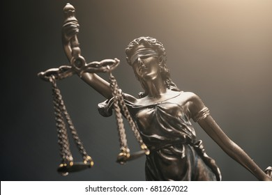 The Statue of Justice - Justitia the Roman goddess of Justice