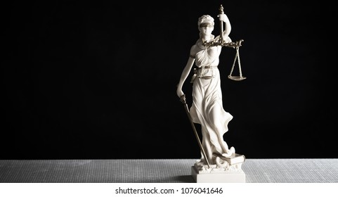 The Statue of Justice. Lady justice or Iustitia
