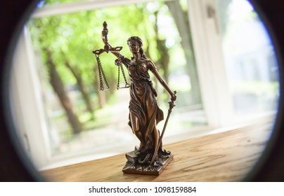 The Statue of Justice - lady justice or Iustitia /