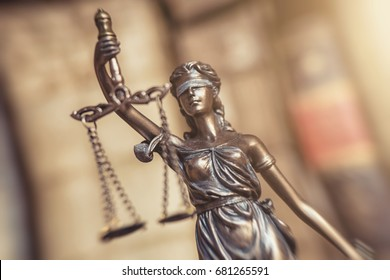 Statue of Justice - lady justice or Iustitia - Justitia the Roman goddess of Justice