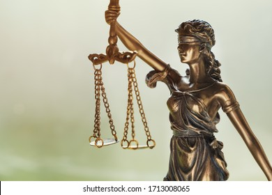The Statue of Justice - lady justice Justitia the Roman goddess of Justice