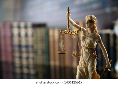 Statue of justice. Law concept.