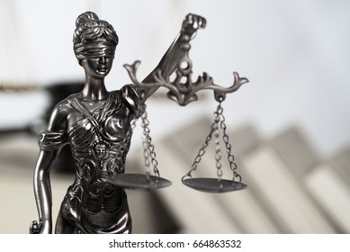 Statue of Justice. Law Concept