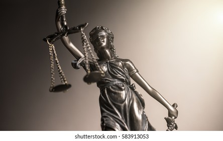 Statue of justice law concept image