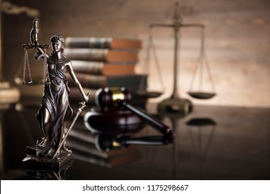 Statue of justice. Legal concept background.