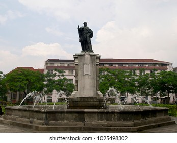 Statue of  King Carlos IV  in historical center Inramuros (Manila)