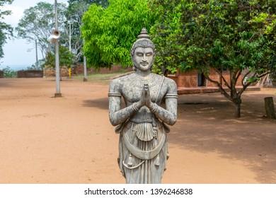 Statue of King Devanampiyatissa in Mihintale Temple, Mihintale, Anuradhapura Sri Lanka
