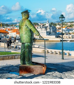Statue of King Don Carlos in the Port of Cascais, Lisbon Region, Portugal