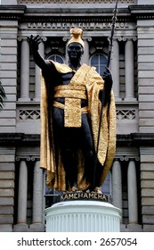 Statue of King Kamehameha I, Oahu, Hawaii. The king that united all Hawaiians and help to transform paradise into a powerful nation.