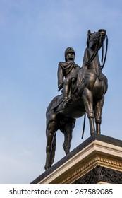 Statue of King Rama V, landmark in Bangkok Thailand