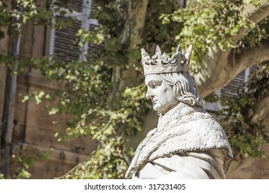 Statue of King Rene in Aix-en-Provence, France