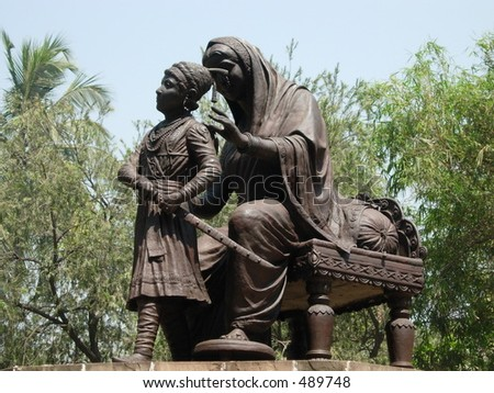 Statue King Shivaji Mother Jijabai Stock Photo Edit Now 489748