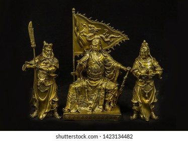 Statue of Kuan Yu is important person in history on generation time Romance of the Three Kingdoms in Temple, China