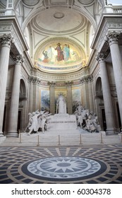Statue of La Convention Nationale inside the Pantheon of Paris.