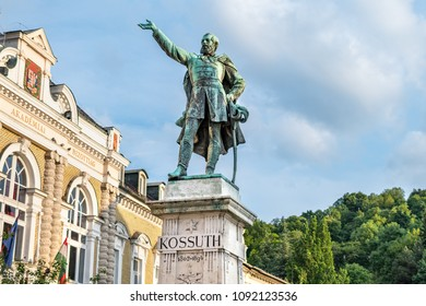 Statue of Lajos Kossuth in Miskolc, Hungary. He was one of the most significant figures in the Hungarian Revolution in 1848