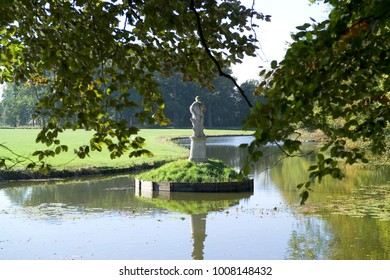 Statue in a lake in Barneveld, the Netherlands