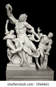 The statue of Laocoon and his Sons, also called the Laocoon Group, is a monumental marble sculpture, now in the Vatican Museums, Rome. The Trojan Laocoon was strangled by sea snakes with his two sons.