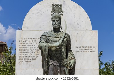 Statue of the last Byzantine emperor Constantine XI Palaiologos (1404-1453 A.D.)