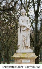 Statue of Laura de Noves (1310–1348), the wife of Count Hugues de Sade, in the Jardin du Luxembourg, Paris, France