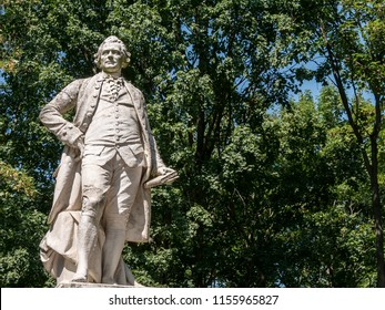 Statue of The Lessing Monument, German: Lessing-Denkmal, To Writer Gotthold Ephraim Lessing At Tiergarten in Berlin, Germany