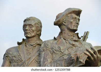 Statue of Lewis and Clark Seaside, Oregon at End of Trail monument