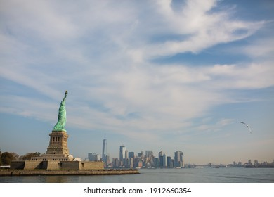 Statue of Liberty Blue Sky