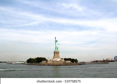 Statue of Liberty and Blue Sky