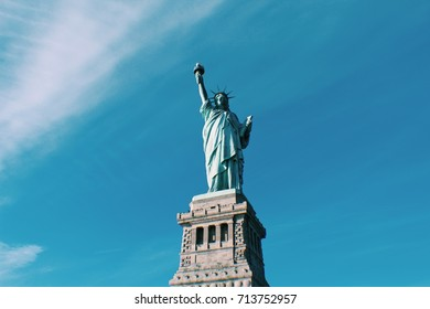 Statue of Liberty in a clear sky