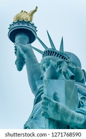 The Statue of Liberty is a colossal neoclassical sculpture on Liberty Island in New York Harbor in New York City, in the United States. The copper statue, a gift from the people of France.