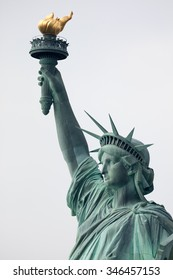 The Statue of Liberty is a colossal neoclassical sculpture on Liberty Island  in New York City