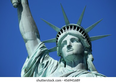 Statue of Liberty (Liberty Enlightening the World) on Liberty Island in New York Harbor