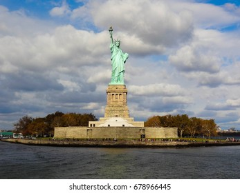 Statue of Liberty in fall, New York City (NYC)