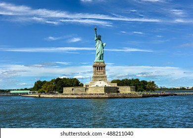 The Statue of Liberty from Liberty Harbor.