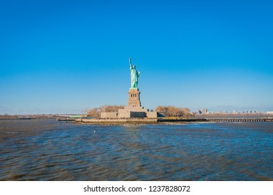 Statue of Liberty in Liberty Island, New York City, United States of America.