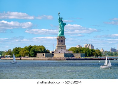 The Statue of Liberty at Liberty Island in New York City