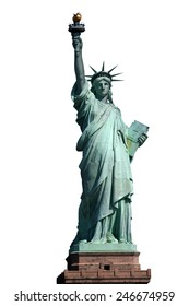 Statue of liberty isolated with clipping path