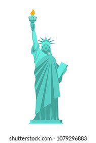 Statue of Liberty isolated. National symbol of America. US Landmark