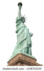 Statue of Liberty isolated on white background. Graphic resource.