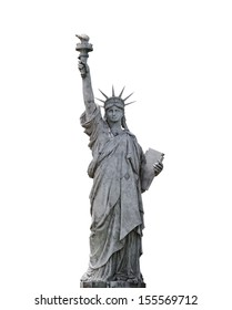 Statue of Liberty isolated on white
