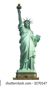 Statue of Liberty (isolated on white)