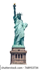 Statue of liberty isolated on white background