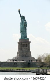 The Statue of Liberty, or Lady Liberty in New York Harbor