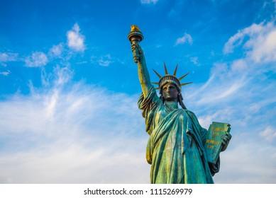 Statue of liberty landmark in Odaiba, Tokyo Japan