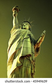 The Statue of Liberty is a monument commemorating the centennial of the signing of the United States Declaration of Independence, given to the United States by the people of France.