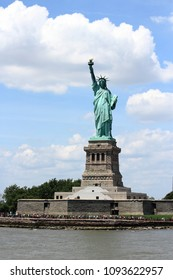 Statue of Liberty in New York City. US national landmark.